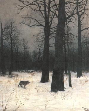 Левитан Зимой в лесу