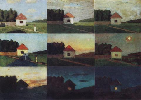 Изменение в пейзаже по тону и цвету в разное время суток