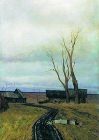 И. Левитан Осень Дорога в деревне