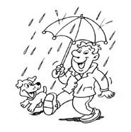 раскраска дождик