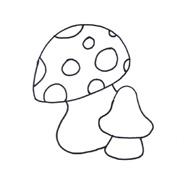 раскраска грибы