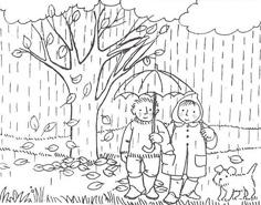 раскраска осенний дождь