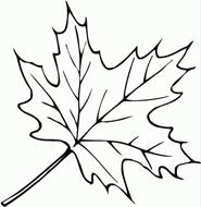 раскраска осенний лист