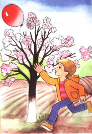 раскраска весна