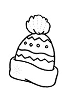 раскраска шапка