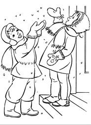 раскраска первый снег