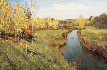 Картина и левитана золотая осень