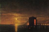 И. К. Айвазовский Лунная ночь. Купальня в Феодосии
