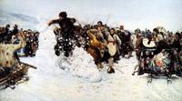В. Суриков Взятие снежного городка