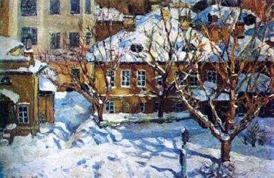 А. Васнецов Московский дворик зимой