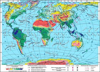 карта климата в странах мира