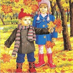 картинка для детей осень