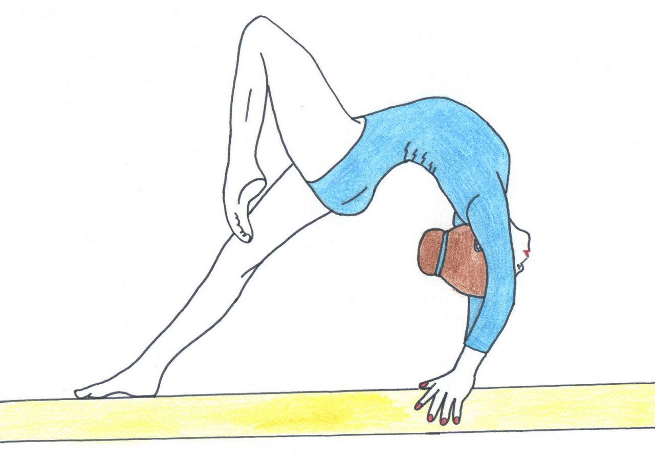 Рисованные гимнастки карандашом