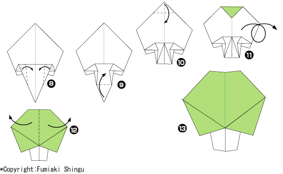 Урок-схема оригами дерево из