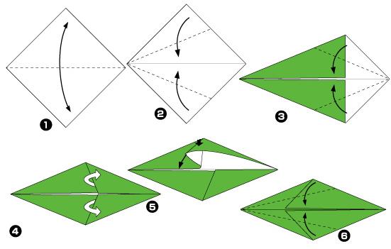 Схема оригами: Ирис из листка