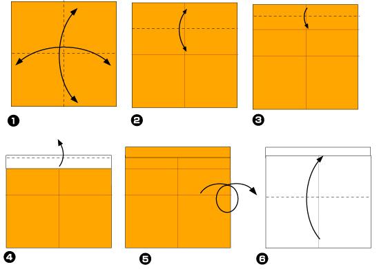 Схема оригами: Роза из листка