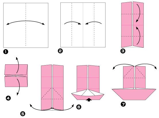 Схема оригами: Мельница из