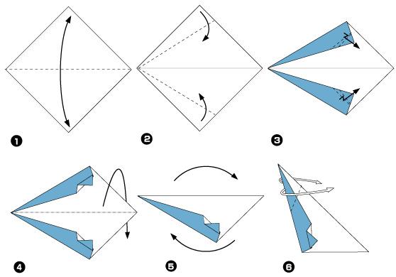 Схема оригами: Пингвин из