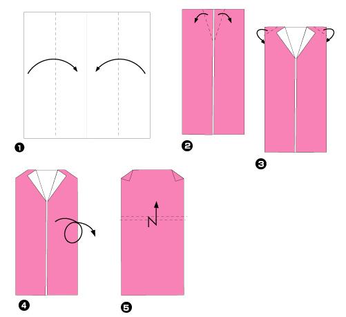 Схема оригами: Платье из