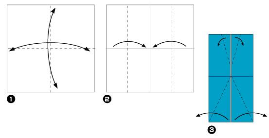 Схема оригами: Рубашка из
