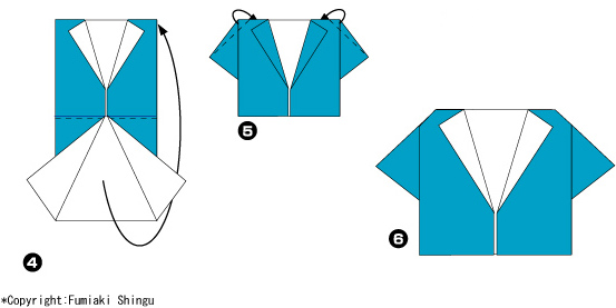 3. Загните уголки от центра и