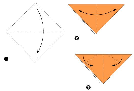 Схема оригами: Собачка из