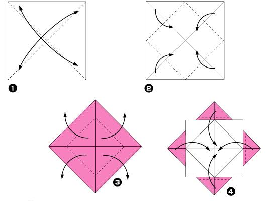 Схема оригами: Солнце из