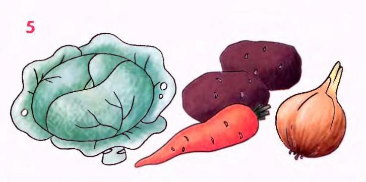рисунки овощей:
