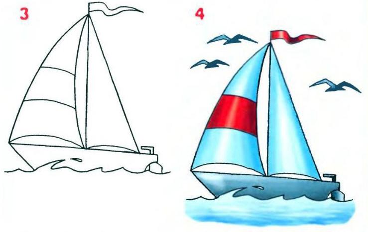 3. Спускаем кораблик на воду.