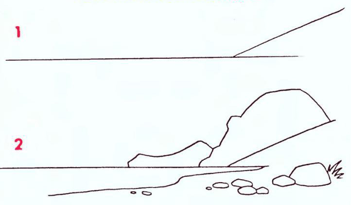 Схема рисунка карандашом