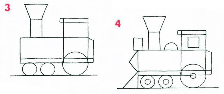 2. Затем нарисуйте кабину и
