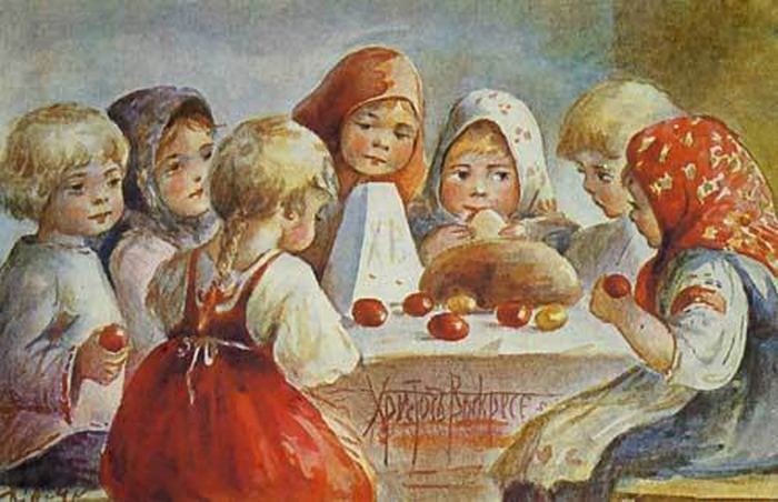 Рисунки старинных открыток