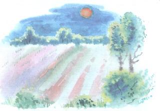 Рисунок для стихотворения летний вечер