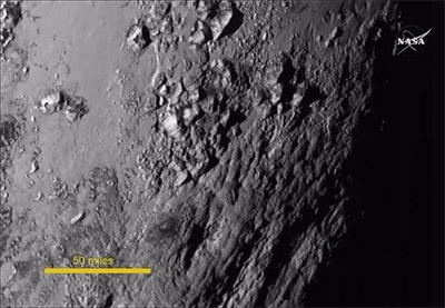 Поверхность Плутона снимок Новых горизонтов