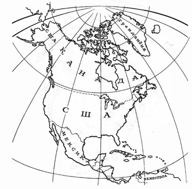 Западное полушарие раскраска
