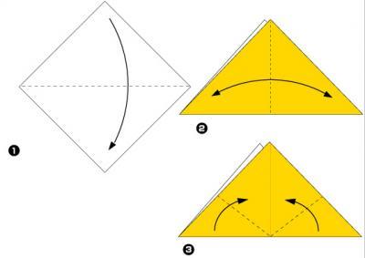 из кошка оригами картинки бумаги