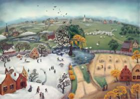 Раскраски природа и времена года