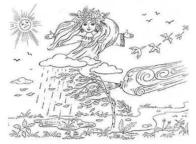 Картинки Про Осень Для Раскрашивания