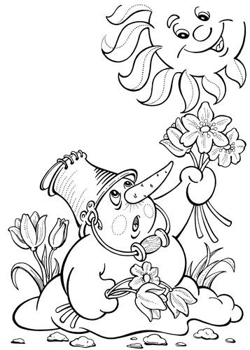 раскраски для детей на тему весна