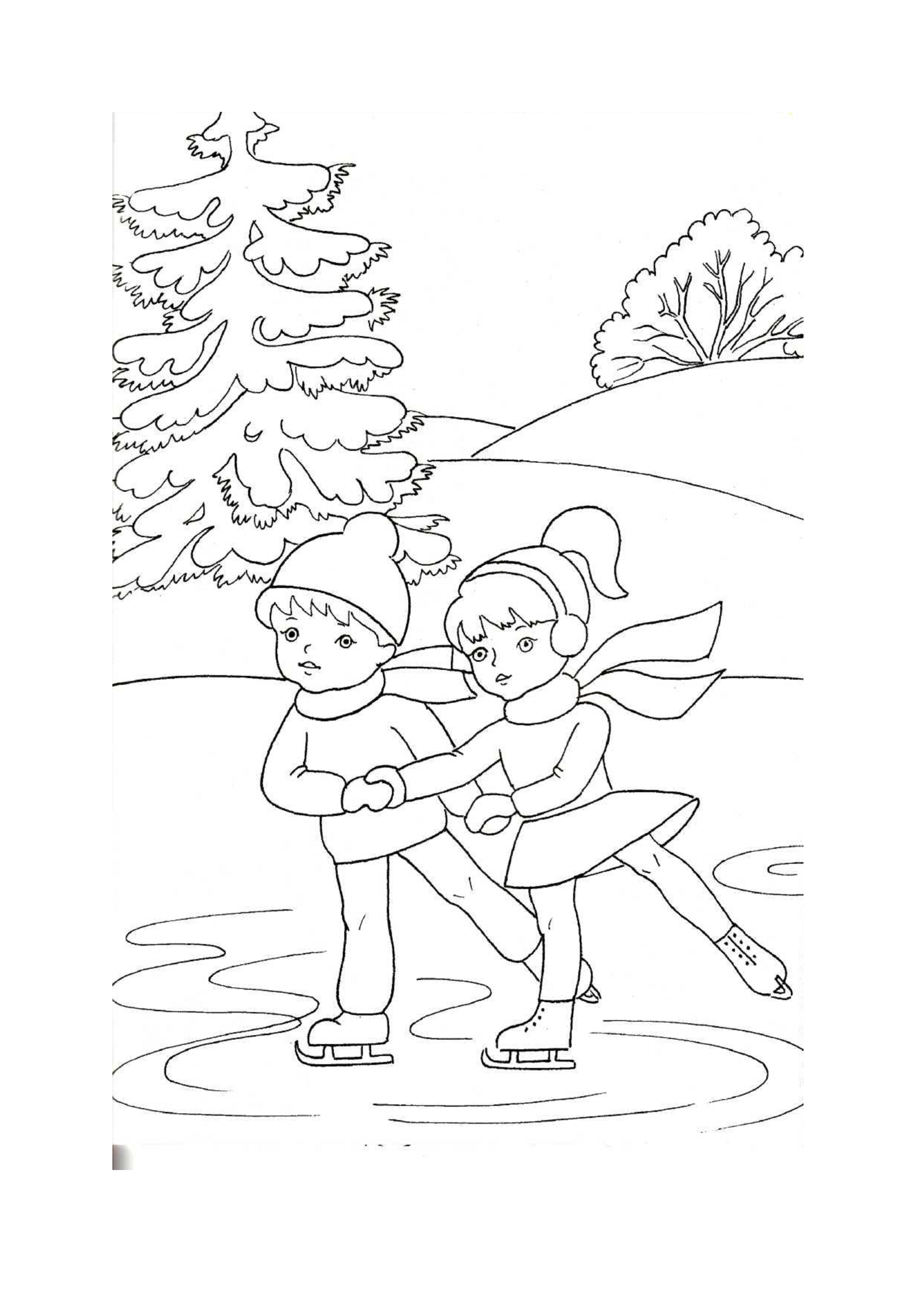 раскраски для детей на тему зима