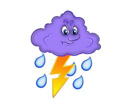 картинка для детей туча с дождем