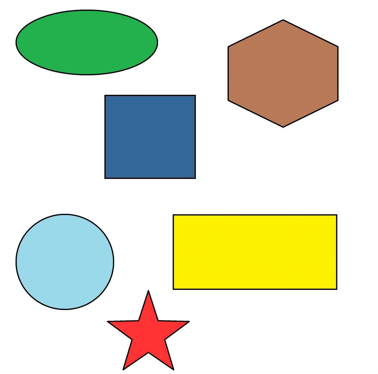Картинки с изображением геометрических фигур для детского сада