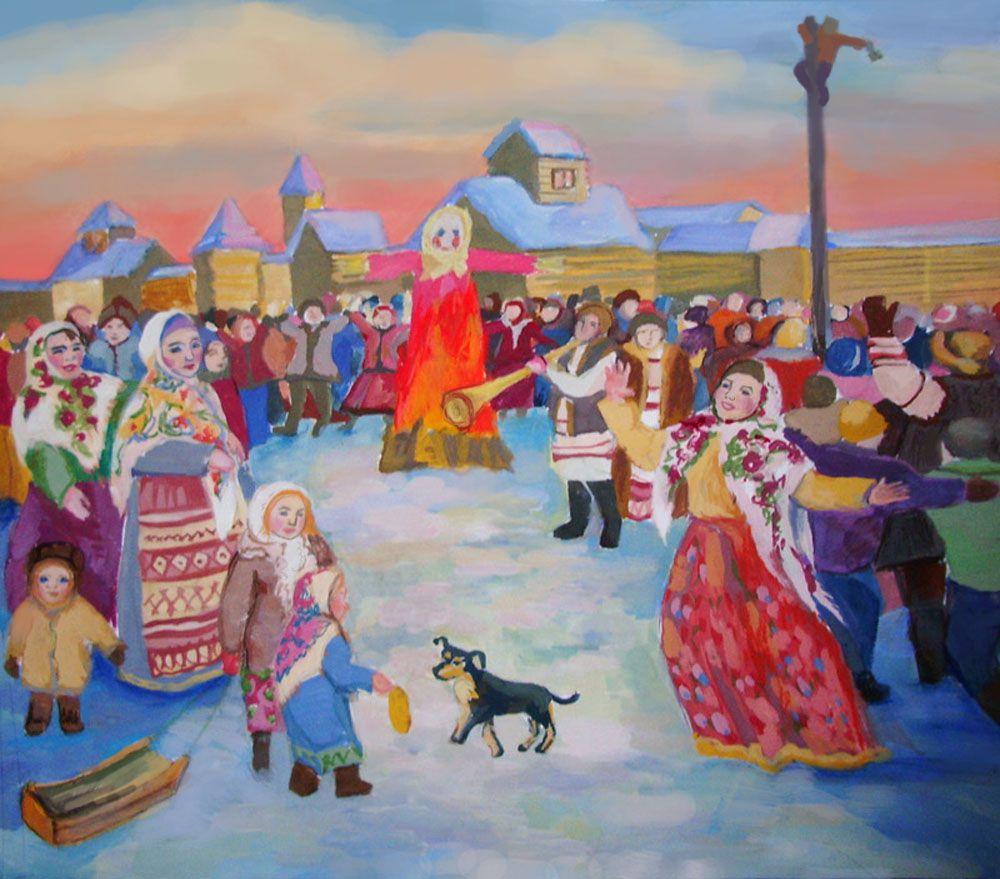Картинки с народным гулянием, костенко