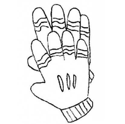 Картинка черно белая перчатки