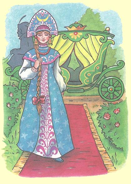 царевна лягушка сказка текст с картинками
