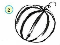 Урок-схема рисования карандашом - арбуз