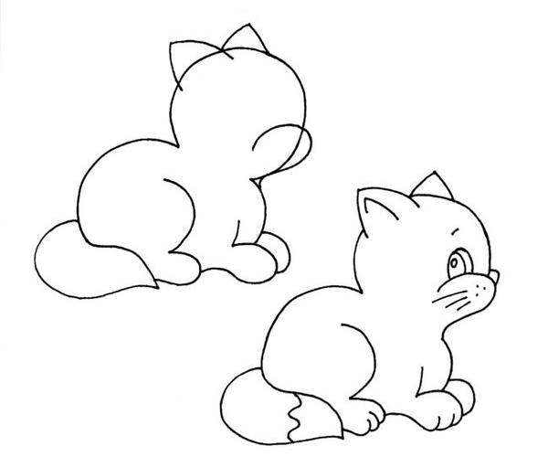котята картинки рисунки