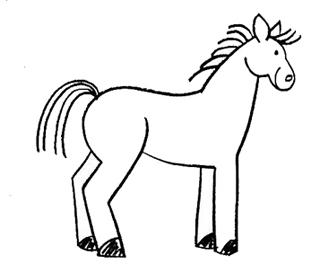 лошадь рисунок фото