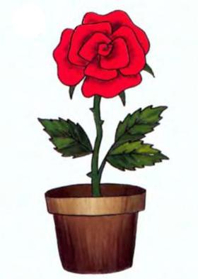 Горшок для цветов СНЕЖИНКА 12 см керамика