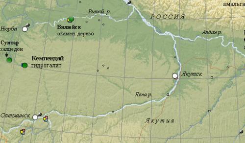 Центрально-Якутская низменность карта